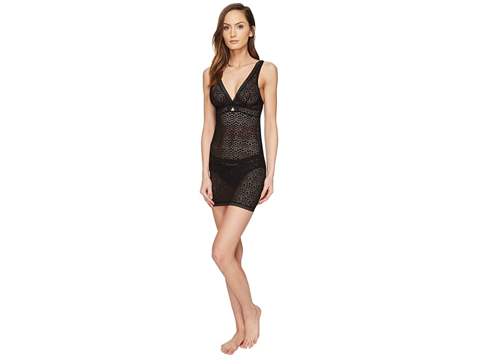 ELSE Pebble Soft Cup Cross Over Fitted Slip (Black) Women