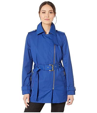 MICHAEL Michael Kors Zip Front Trench (Twilight Blue) Women
