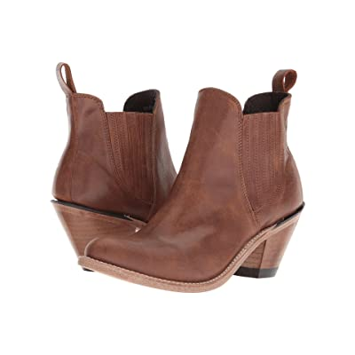 Old West Boots Gored Ankle Boot (Brown) Cowboy Boots