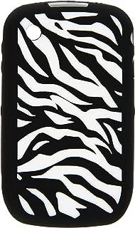 MyBat Laser Zebra Skin Cover for Blackberry 8520 (Curve) - Retail Packaging - White/Black