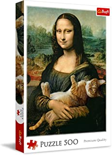 Trefl Mona Lisa And Purring Kitty Puzzle For Unisex- 500 Pieces