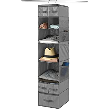 Cotton Clozet Hanging Wardrobe Organizer Storage Cabinet Drawer Pocket Shelf