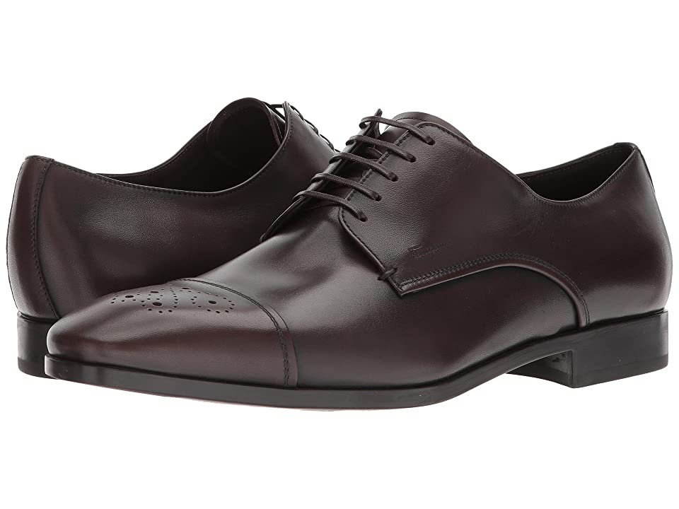 54a87a40b3f0 Salvatore Ferragamo Cairo Captoe Oxford (Brown) Men s Shoes