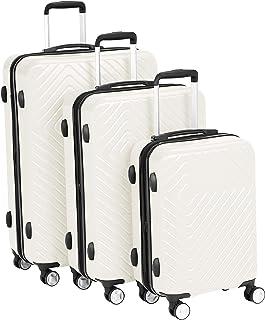 مجموعة حقائب امتعة للسفر بعجلات قابلة للتوسيع بهيكل صلب هندسي من أمازون بيسيكس
