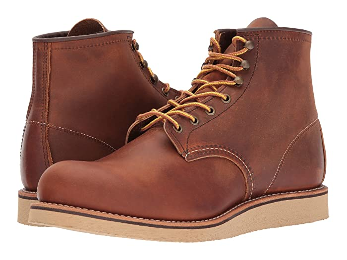 1950s Men's Workwear & Casual Clothes Red Wing Heritage 6 Rover Round Toe Copper Rough and Tough Mens Lace-up Boots $269.99 AT vintagedancer.com