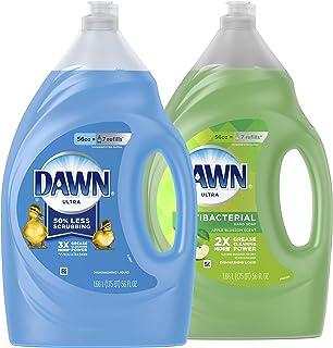 (1660ml) - Dawn Ultra Antibacterial Dishwashing Liquid, Apple Blossom Scent + Dawn Ultra Dishwashing Liquid, Original Scen...