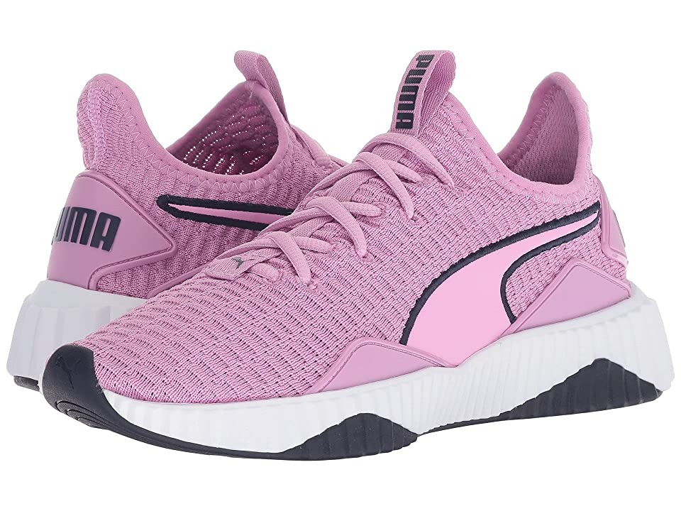 Puma Kids Defy (Big Kid) (Orchid/Puma White/Peacoat) Girl