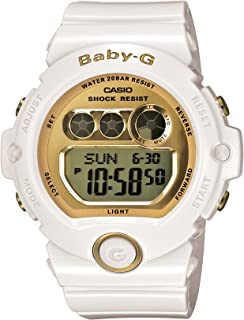 Women's BG6901-7 Baby-G White Resin and Gold-Tone Accented Large Digital Sport Watch