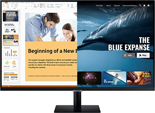 Samsung 27 inch M5 Smart Monitor with Netflix, YouTube, Prime Video and Apple TV Streaming (LS27AM500NWXXL, Black) 1