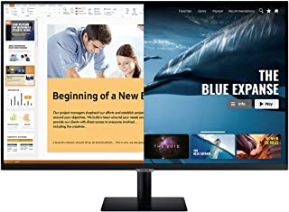 Samsung 32 inch (81.28 cm) M7 Smart Monitor with Netflix, YouTube, Prime Video and Apple TV Streaming (LS32AM700UWXXL, Black)
