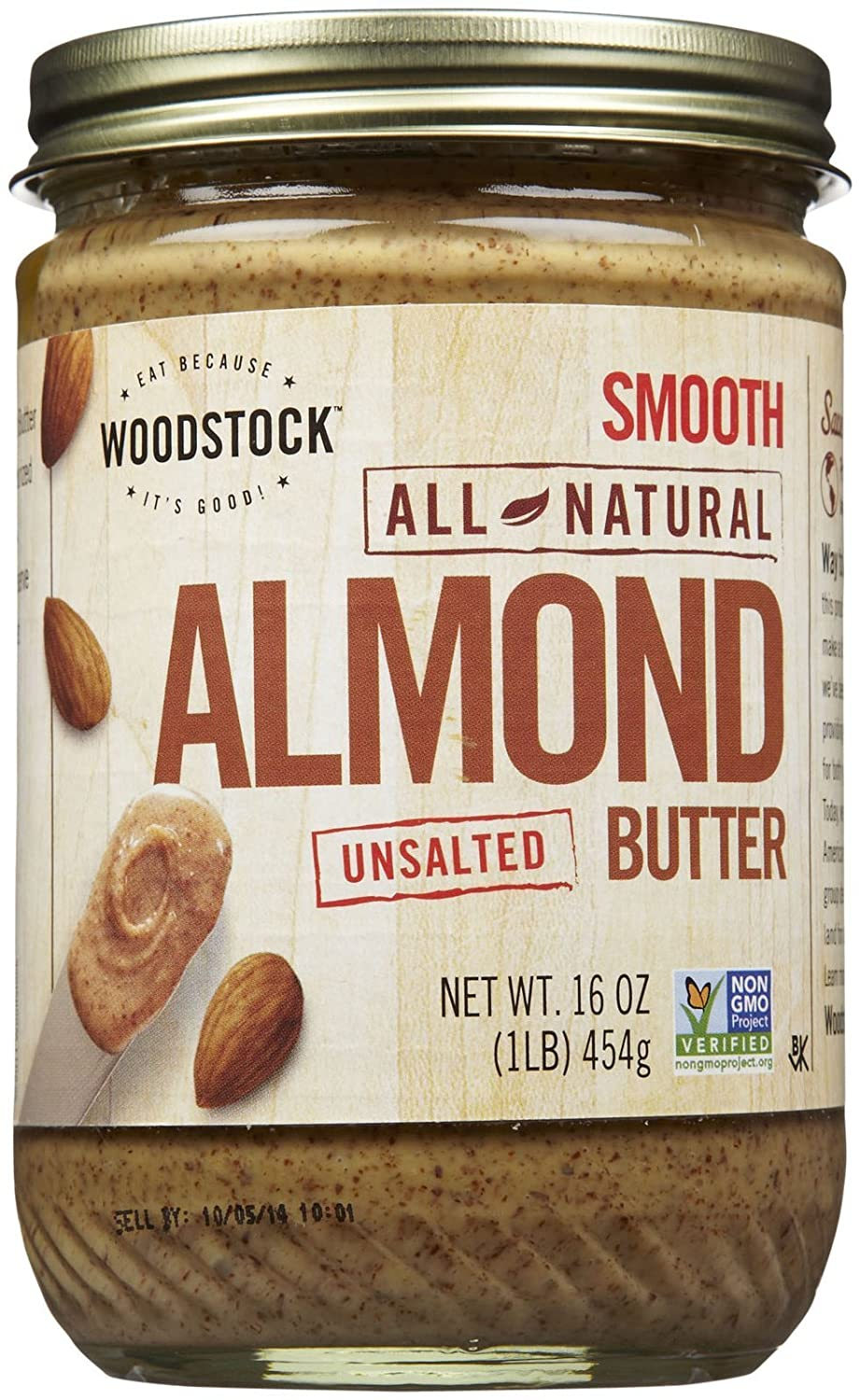 Woodstock Smooth Almond Butter specialty shop No oz 16 OFFicial site Salt