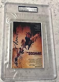 Drew Struzan The Goonies Signed Auto 4x6 Poster Photo - PSA/DNA Certified