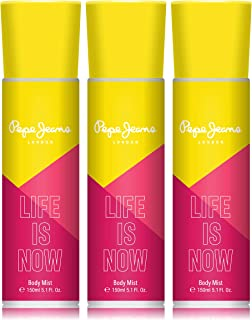 Pepe Jeans London Life Is Now Women Body Mist 150ml (Pack Of 3)