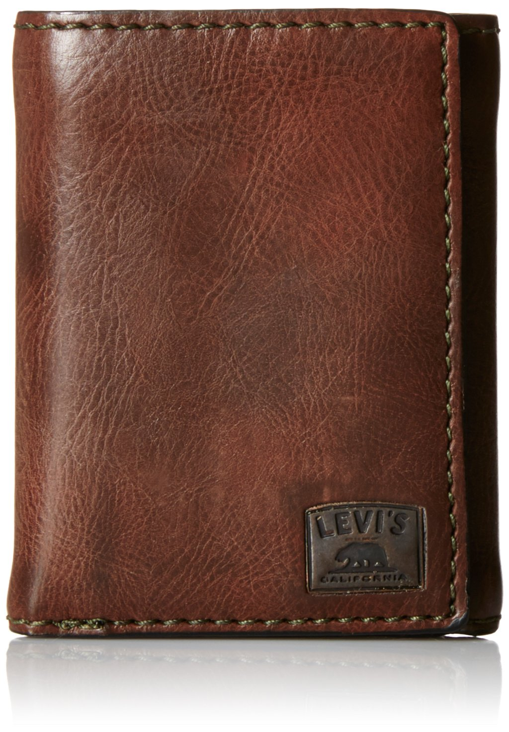 Levis Mens Trifold Wallet Window