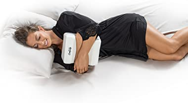 ComfiLife Orthopaedic 100 Memory Foam Knee Pillow for Sciatica Relief, Back Pain, Hip Pain, Pregnancy and Joint Pain