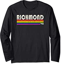 Vintage 80's Style Richmond VA Gay Pride Month Long Sleeve T-Shirt