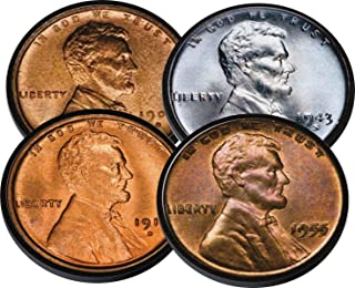 Lincoln Head Penny 1 Cent Neoprene Coaster Set of 4 For Numismatist Coin Collector