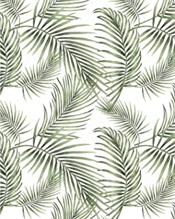 """Tropical Palm Wallpaper Rainforest Leaves Contact Paper Jungle Wallpaper Self Adhesive Wallpaper Peel and Stick Wallpaper Green Contact Paper Removable Wallpaper Vinyl Jungle Wallpaper 17.7""""×78.7"""""""