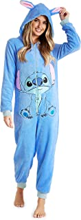 Disney Stitch Onesie Ladies Pyjamas, Adult Unisex Cosplay Cartoon Animal Onesie, Winter Warm Sleepwear Kigurumi Pajamas Co...
