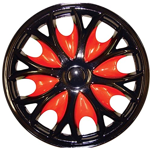 14 Comet Pro Red Car Wheel Trims Hub Cap Includes Cable Ties And Valve