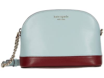 Kate Spade New York Spencer Small Dome Crossbody (Cloud Mist Multi) Handbags