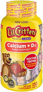 L'il Critters Kids Calcium Gummy Bears with Vitamin D3 , 150ct