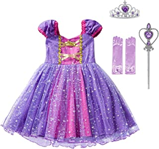 Cinderella Rapunzel Princess Girls Dress Fancy Party Costume