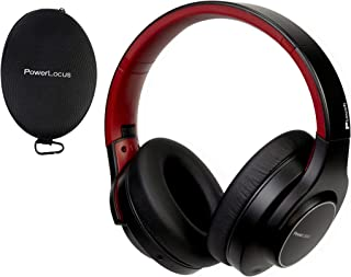 PowerLocus Bluetooth Headphones Wireless Over-Ear, [30H Playtime, Touch Button, HD Stereo], Wireless and Wired Headphone with Microphone Soft earmuffs Foldable Headset for iPhone, Samsung, iPad,TV, PC