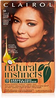 Natural Instincts #22 Size Kit Clairol Natural Instincts #22 Medium Auburn Brown