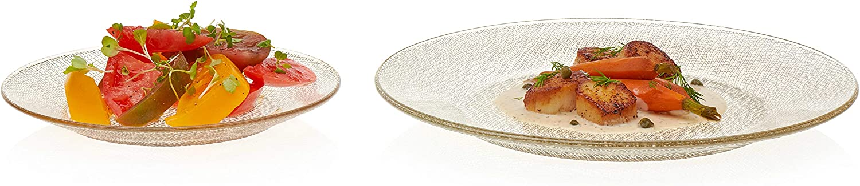 Libbey 再入荷/予約販売! Yute 12-Piece 爆売りセール開催中 Glass Dinnerware Service 4 Gold for Set