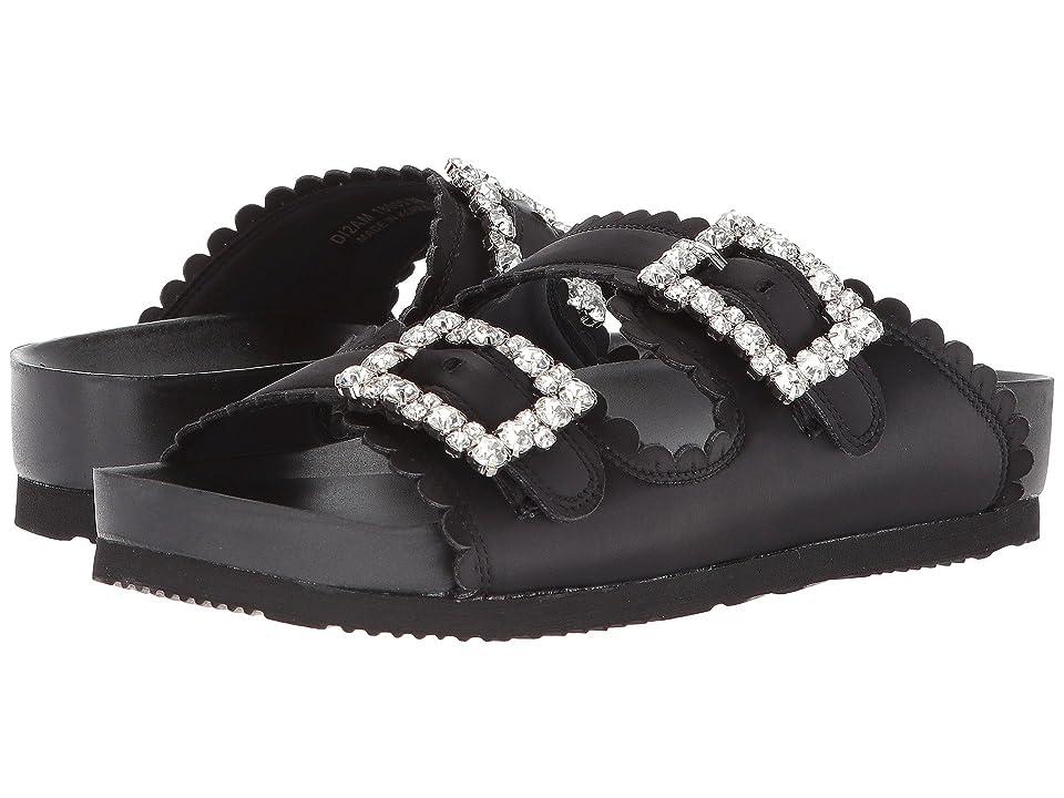 Suecomma Bonnie Jewel Buckles Flat Sandals (Black/Multi) Women