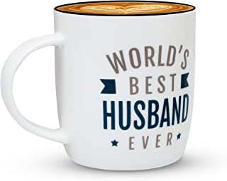 Gifffted Worlds Best Husband Ever Coffee Mug, Funny Greatest Husband Gifts From Wife, Best Husband Gifts For Anniversary, Birthday, Valentines and Christmas, Mugs 13 Oz Cup