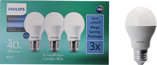 Philips 5W E27 6500K 110-220V LED Bulb 3 Pieces