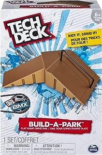 Tech Deck 20075297  - Build-A-Park - Flat Ramp Grind Rail (Brown) Customize Your Park By Building It Your Way!, Multi