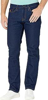 Stretch Slim Straight Five-Pocket Denim Jeans in Blue Rinse