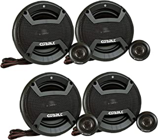 "Orion Cobalt CT-CK655 4 Speakers 6.5"" 2-Way Coaxial Component Speaker 50W RMS 4 OHM 450 Watts Max Power Set of 2 Pairs"