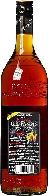 Old pascas Ron Blanco White Rum (1 x 1 l): Amazon.es ...