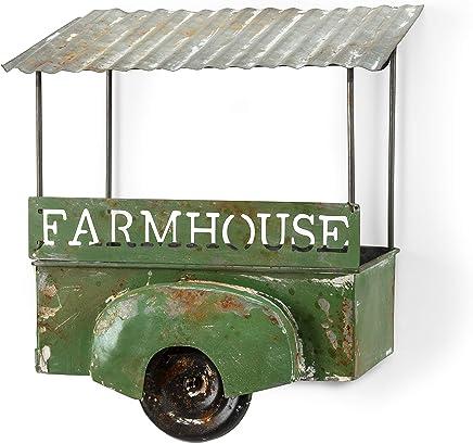 "Abbott Collection 27-VINTAGE-847 Farmhouse Wagon Planter-9"" H 多色"