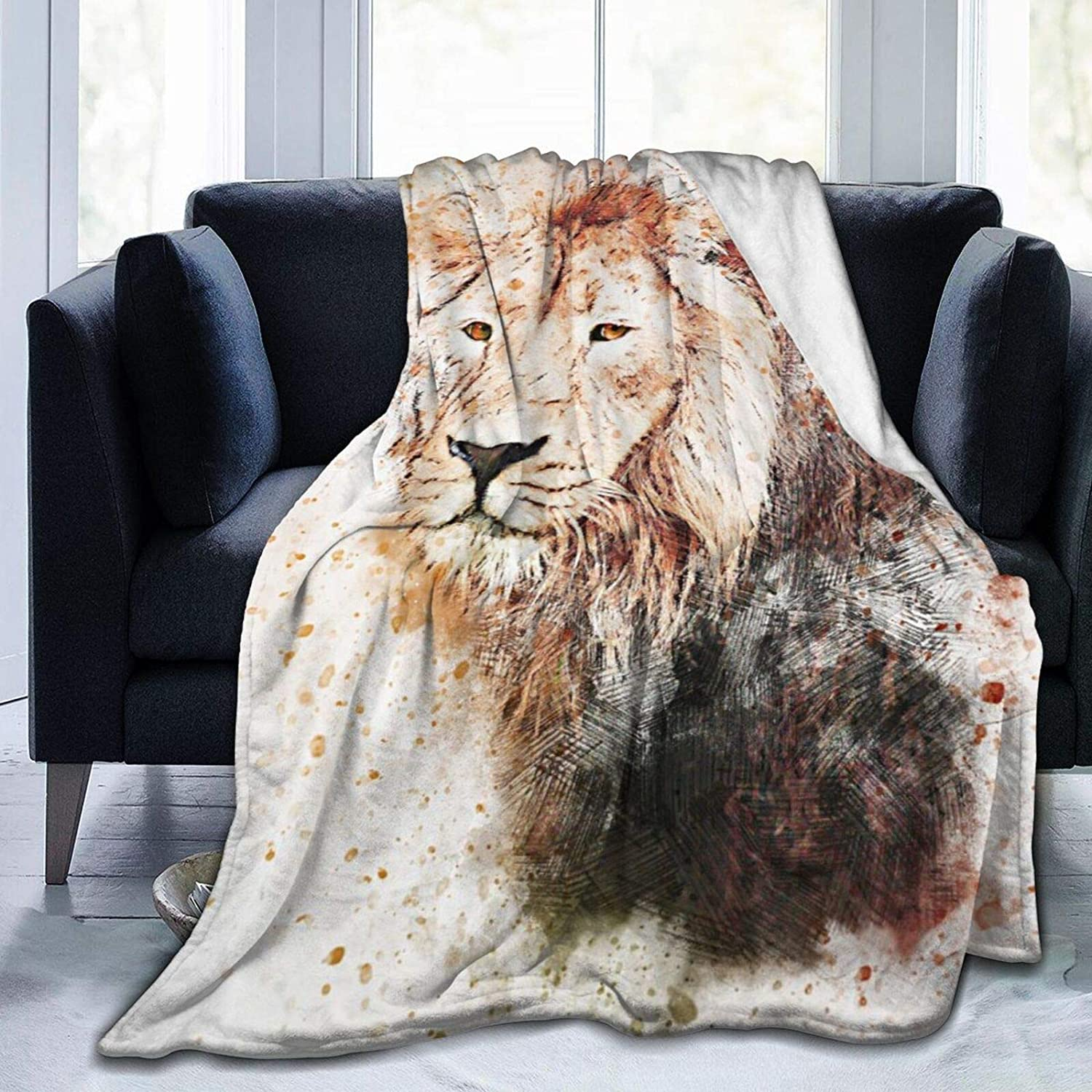 Lions Animals Art Abstract Watercolor Splatter 100% quality warranty! Classic Decorative Paint