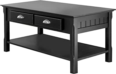 Winsome Timber Occasional Table, Black, 38 inches