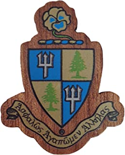 Delta Delta Delta Sorority Wood Crest Made of Wood for Paddle Mascot Board tri Delta (1.5 Inch Tall Single Raised)