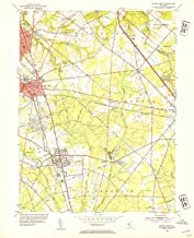 YellowMaps Pitman East NJ topo map, 1:24000 Scale, 7.5 X 7.5 Minute, Historical, 1953, Updated 1954, 27 x 22 in