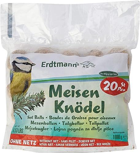 Erdtmanns Boule de Graisse sans Filets pour Oiseaux 20 Pièces