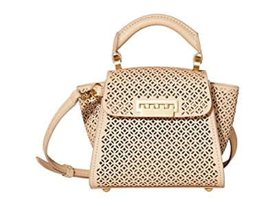 ZAC Zac Posen Eartha Mini Top-Handle Crossbody Floral Perforation (Wheat) Handbags