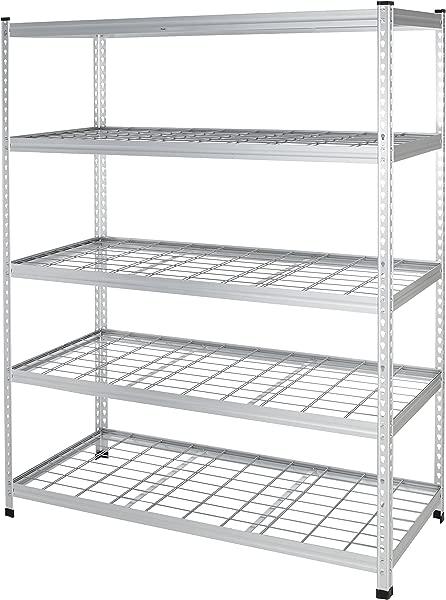 AmazonBasics 重型储物架双柱钢丝货架 60X24X78 英寸铝