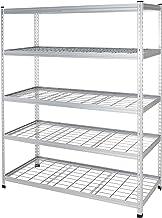 AmazonBasics Heavy Duty Storage Shelving Unit | Double Post, Aluminum
