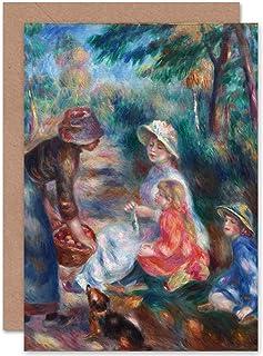 Renoir The Apple Seller obraz Fine Art Kartka okolicznościowa plus koperta pusta wewnątrz