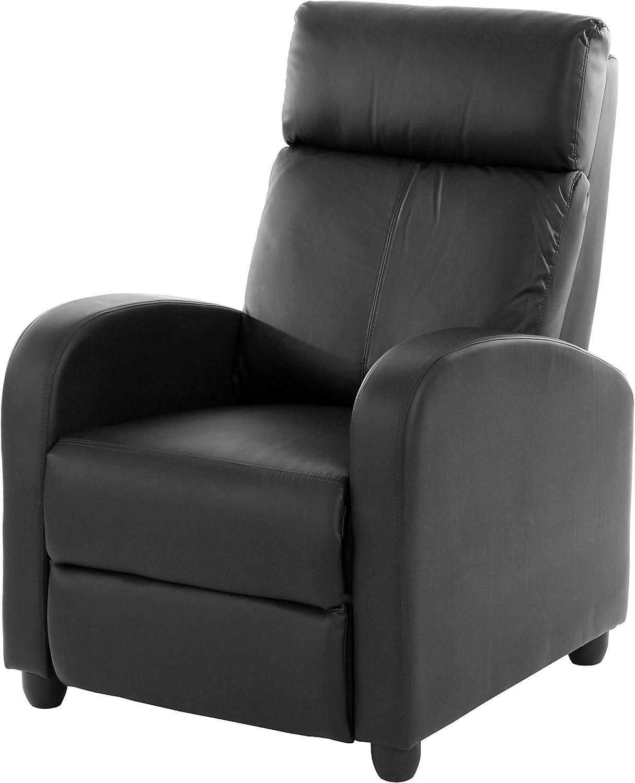 Fernsehsessel Relaxsessel Liege Sessel Denver, Kunstleder  schwarz
