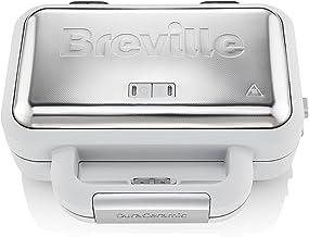 Breville VST070X Jumbo Sandwichtoaster, 18/8 Roestvrij Staal, Wit