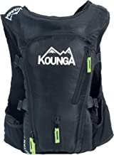 Kounga Unisex's Auyan 15L Ultra Trail Rugzak Zwart, 15 liter